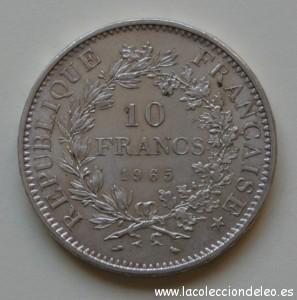 10 francos 1965