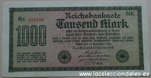 1000 marcos 1922