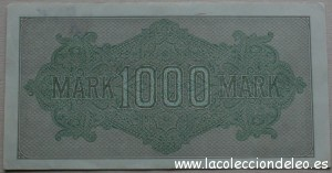 1000 marcos 1922 tras