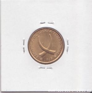 Guinea 1 peseta tras