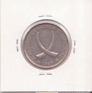 guinea 25 pesetas tras