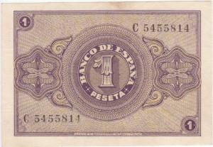 1 peseta 1937 tras