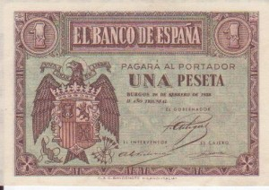 1 pesetas 28-02-38