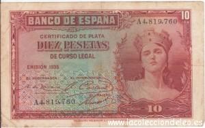 10 pesetas 1935