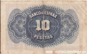 10 pesetas 1935 tras