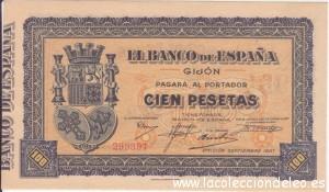 100 pesetas Gijon