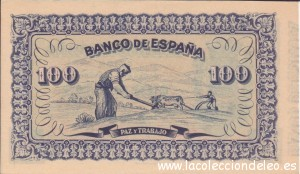 100 pesetas Gijon tras