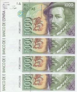 1000 pesetas 1992