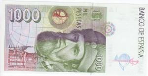 1000 pesetas 1992 tras