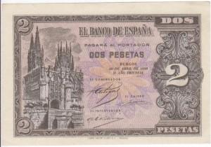 2 pesetas 1938