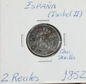2 reales 1852 Sevilla