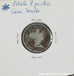 2 reales 1852 Sevilla tras