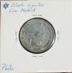 40 céntimos escudo 1886 tras