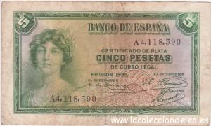 5 pesetas 1935