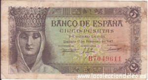 5 pesetas 1943