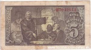 5 pesetas 1943 tras