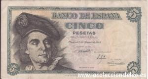 5 pesetas 1948
