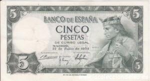 5 pesetas 1954