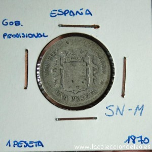 1 peseta 1870