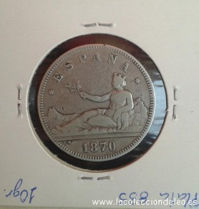 2 pesetas 1870 74 tras m