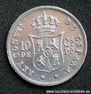 10 centavos peso 1885 reverso