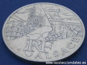 10 euros 2011 Alsace tras