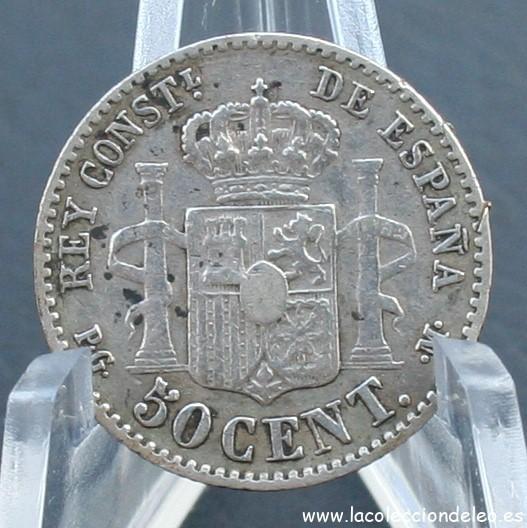 50 céntimos 1892 estrella 2